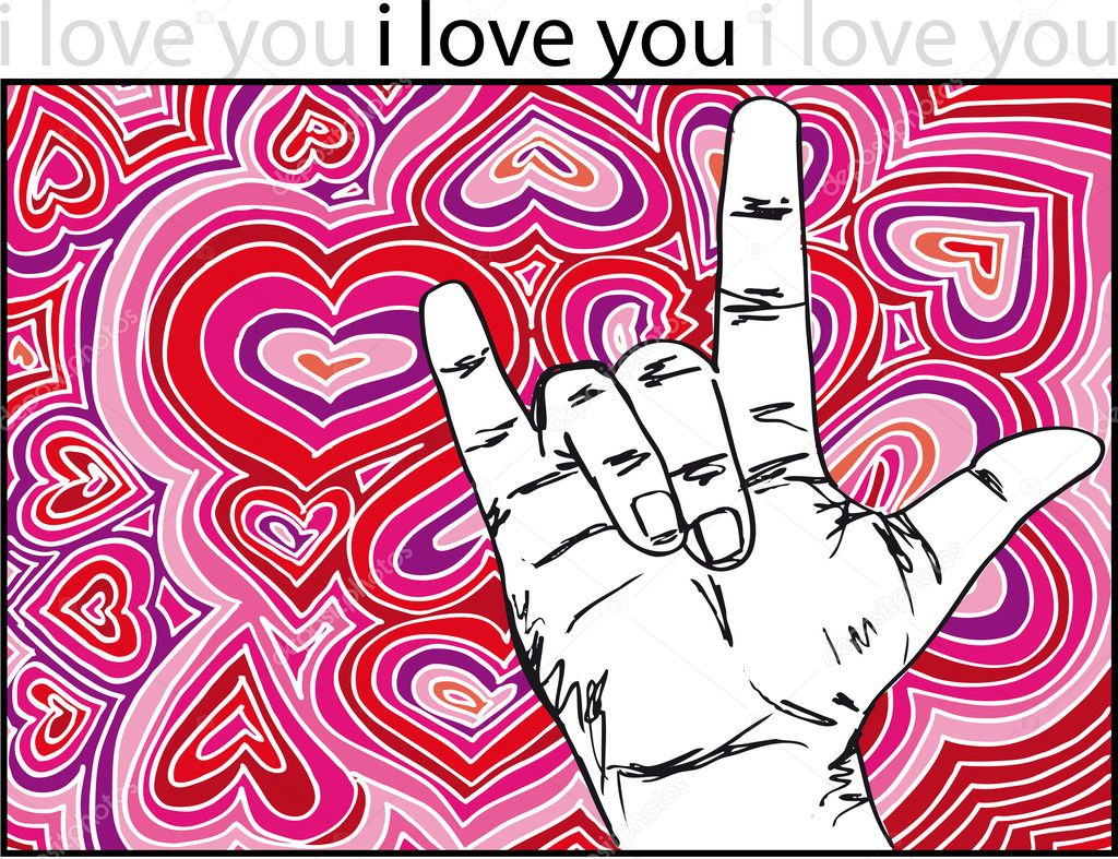 Sign Language I Love You Heart