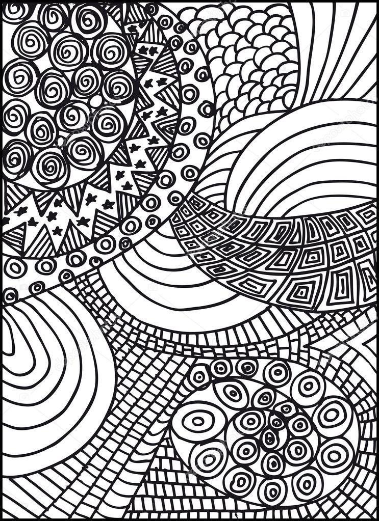 手绘抽象的背景.矢量插画