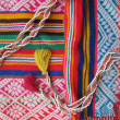 Peruvian hand made woolen fabric — Stock Photo