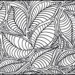 Abstract sketch of leaf background. Vector illustration - Imagen vectorial