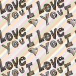 I love you, vector illustration — Stock Vector