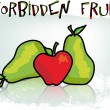 Forbidden fruit. Vector illustration — Stock Vector
