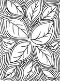 Bosquejo de hojas, antecedentes. ilustración vectorial — Vector de stock