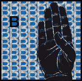Sketch of Sign Language Hand Gestures, Letter B. Vector illustration — Stock Vector