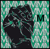 Sketch of Sign Language Hand Gestures, Letter M. Vector illustration — Stock Vector
