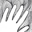 Sketch of hand on abstract background. vector illustration — Stock Vector