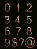 Rusty metal effect numbers and symbols — Стоковое фото