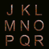Rusty Metal Alphabet text — Stock Photo