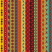 Diverses bandes colorées des motifs. — Vecteur