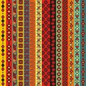 Várias tiras de motivos coloridos. — Vetorial Stock