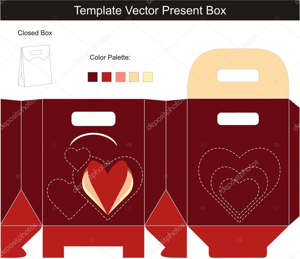 template gift box stock vector copy elenasz  template gift box stock vector 10359306