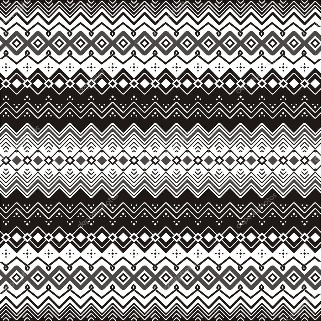 Seamless pattern in black and white. — Stock Vector #10433580