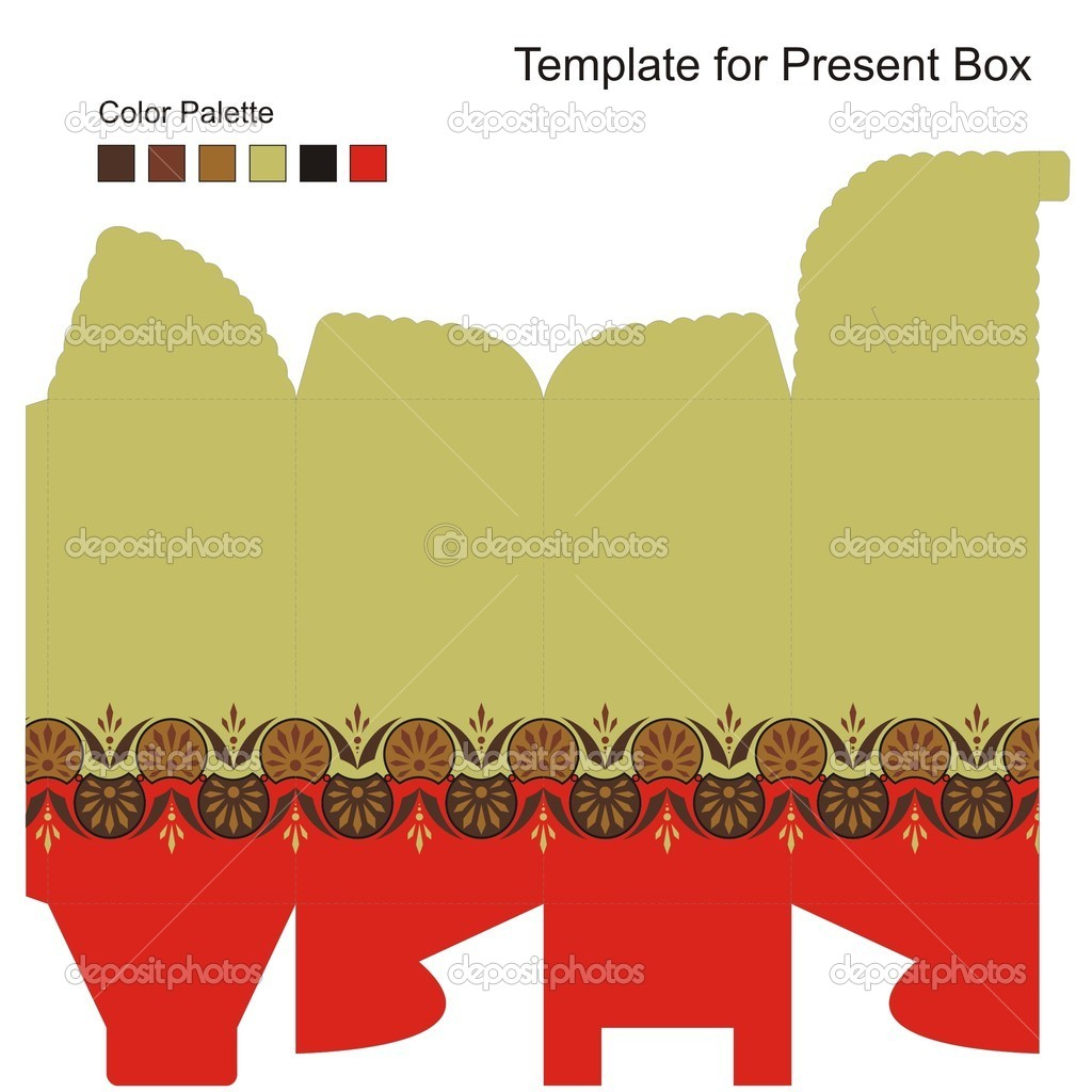 Template for Gift Box Vector Elenasz 10433582 – Template for Gift Box