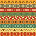 Ethnic strips motifs — Stock Vector