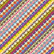Colorfull geometric pattern - Stock vektor