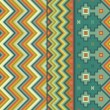 Zigzag pattern with accents of ethnic motifs — Stock vektor