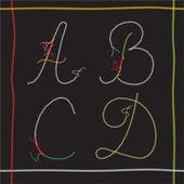 Abcd векторный набор — Cтоковый вектор