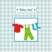 Baby boy invitation — Stock Vector