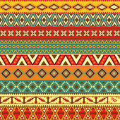Ethnic strips motifs — Stock Vector