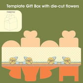 Template gift box — Stock Vector