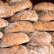 Traditional round bread — Stock Photo