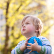 Little boy playing with ball — Stock Photo #10360975