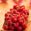 Royalty-Free Stock Photo: Cherries with shallow DOF