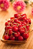 Cherries with shallow DOF — Stockfoto