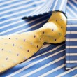 Shirt and yellow tie — Stock Photo