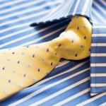 Shirt and yellow tie — Stock Photo