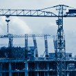 Stock Photo: Construction blue toned