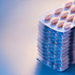 Stack of pills blister — Stockfoto