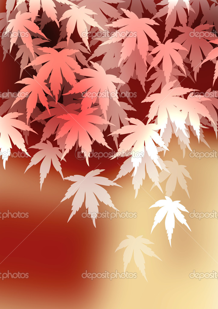 The pattern of visionary autumnal leaves  — Stock Photo #10367833