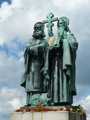 Sculpture of Saints Cyril and Methodius — Stock Photo