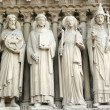 Saints from Notre Dame de Paris — Stock Photo