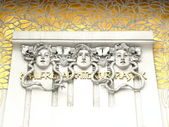 Gorgons from Secession building in Vienna — Stock Photo