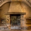 Stock Photo: Old Fireplace