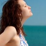 Sunbathing Woman — Stock Photo