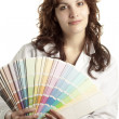 Woman with Color Swatch — Stock Photo #10443481