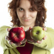 Confident Woman with Apples — Stock Photo #10443620
