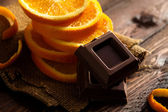 Chocolate with Orange — Stock Photo