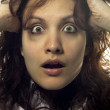 Shocked Desperate Woman — Stock Photo