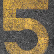 Parking Number 5 — Stock Photo #10800159