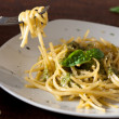 Linguine with Pesto — Stock Photo
