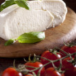 Mozzarella with Tomatoes and Basil - Stock Photo