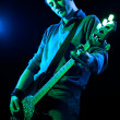 Stock Photo: Bassist