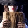 Stock Photo: Witch with Broom
