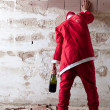 Stock Photo: Staggering Drunken Santa