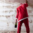 Staggering Drunken Santa — Stock Photo