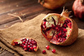 Pomegranate with Seeds — Stock Photo